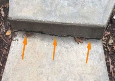 Concrete cracks from settling soil Lavonia Georgia