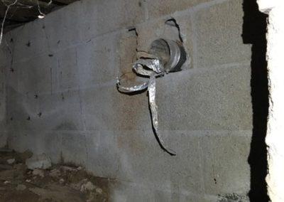 Dryer Venting into crawlspace Hartwell Georgia