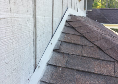 Incorrect flashing on a home in Lavonia Georgia